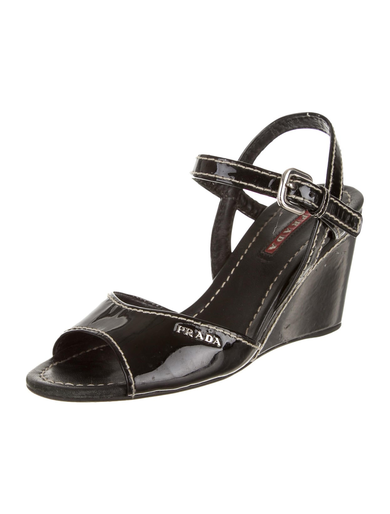 prada sport wedges shoes wpr25648 the realreal