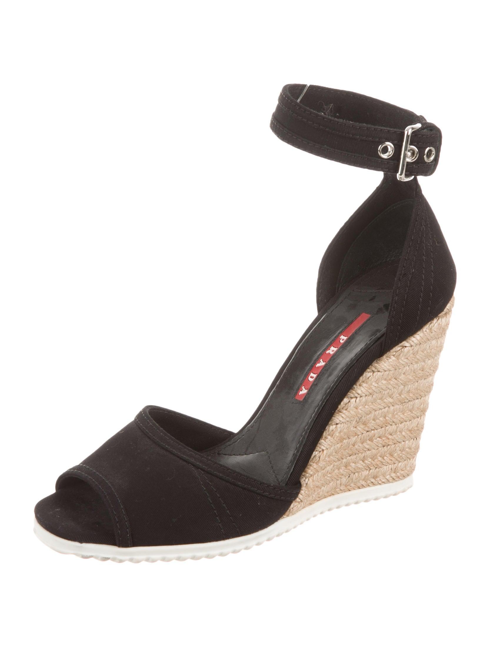 prada sport canvas wedge sandals shoes wpr29837 the