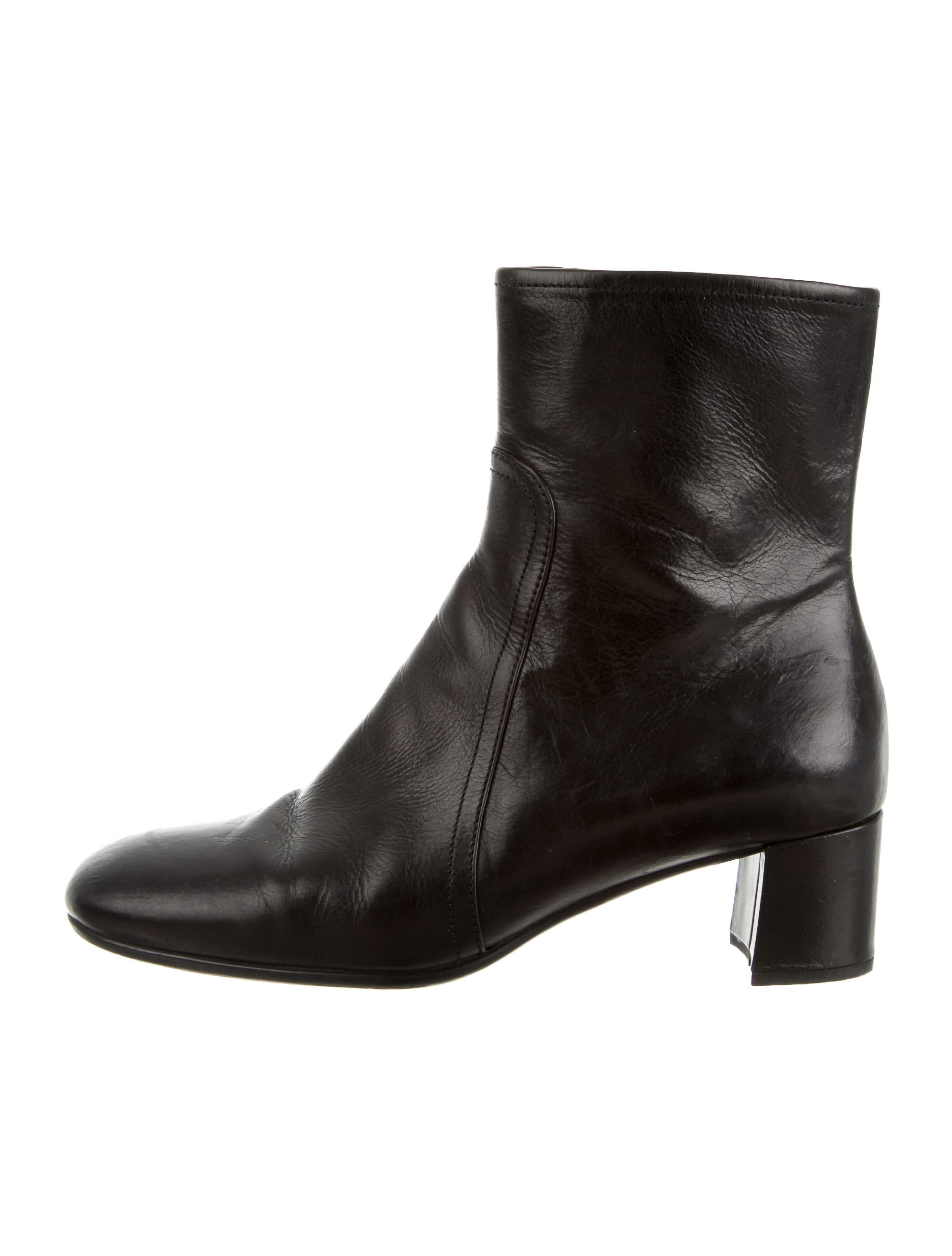 prada sport black leather ankle boots shoes wpr30037