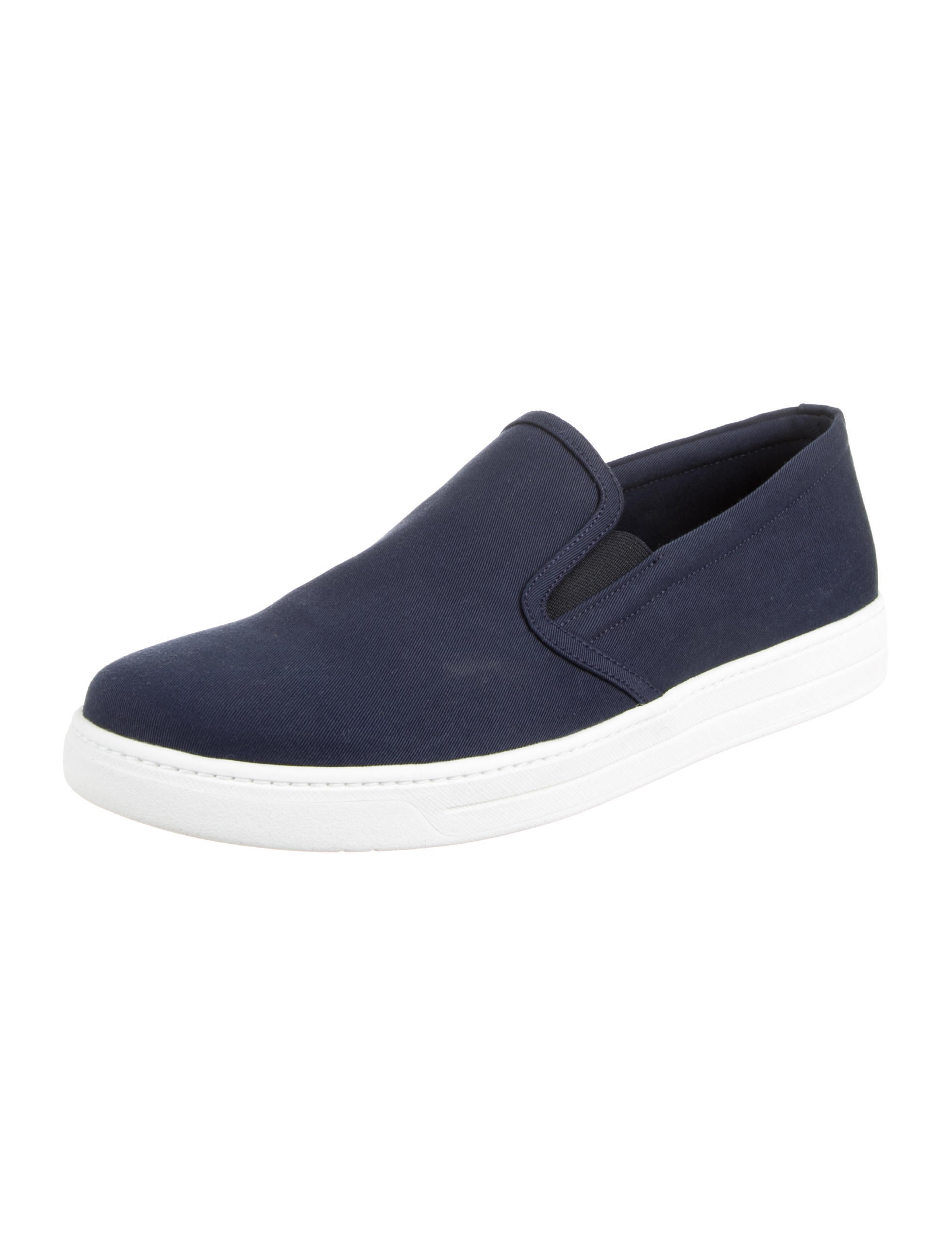 free shipping 100% authentic sneakernews for sale Prada Round-Toe Slip-On Sneakers sale from china cheap classic xtj707SYR