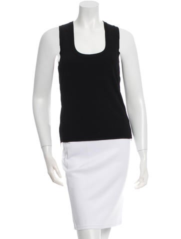 Prada Sport Sleeveless Rib Knit-Trimmed Top None