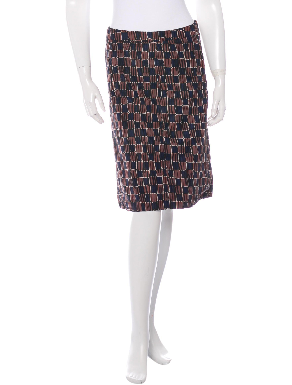 prada sport patterned pencil skirt clothing wpr33250