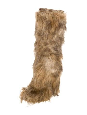 prada sport knee high fur boots shoes wpr33545 the