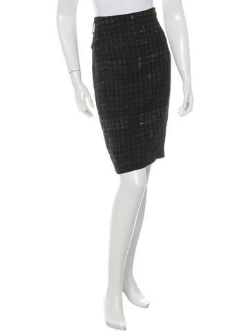 Prada Sport Printed Knee-Length Skirt None