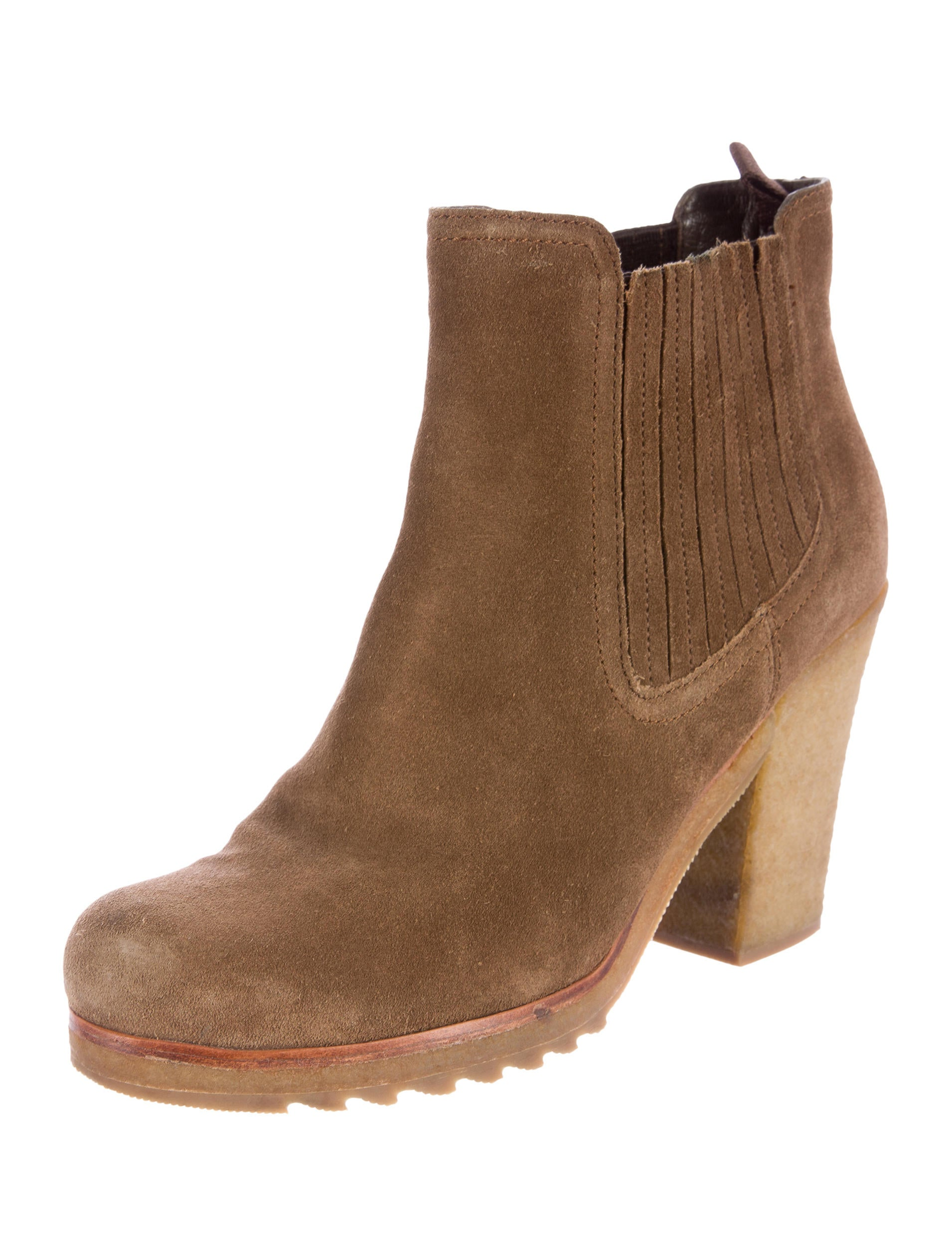 prada sport suede toe ankle boots shoes wpr34785