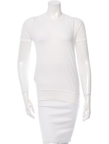 Prada Sport Rib Knit-Trimmed Short Sleeve T-Shirt None