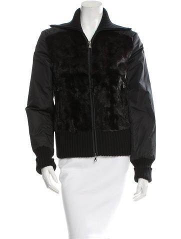 Prada Sport Fur Front Wool Jacket None