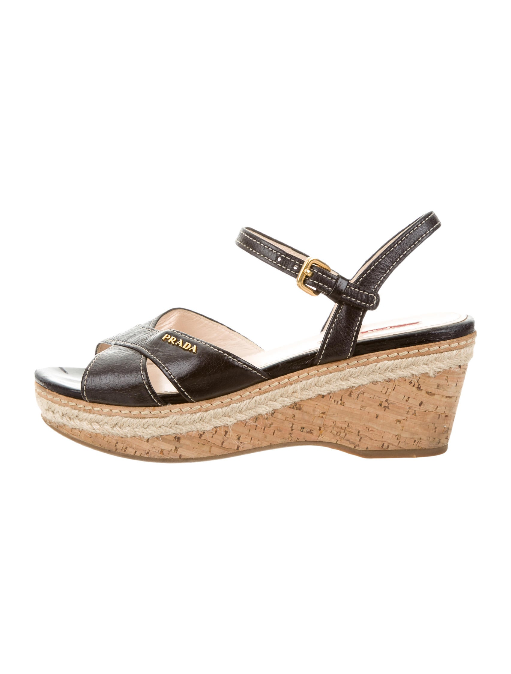 prada sport leather logo wedges shoes wpr34860 the