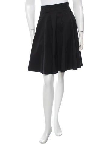 Prada Sport Flared Knee-Length Skirt None