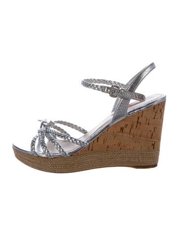 Prada Sport Metallic Platform Wedges None