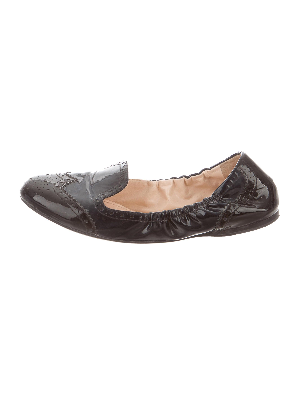 prada sport patent leather ballet flat shoes wpr35127