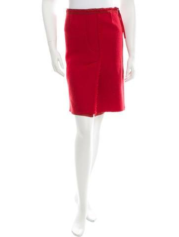 Prada Sport Wool Knee-Length Skirt None