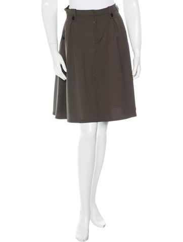 Prada Sport Pocketed Knee-Length Skirt None