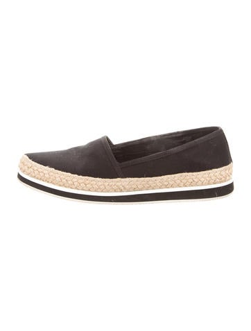 Prada Sport Canvas Pointed-Toe Espadrilles None