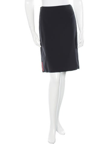 Prada Sport Knee-Length A-Line Skirt None