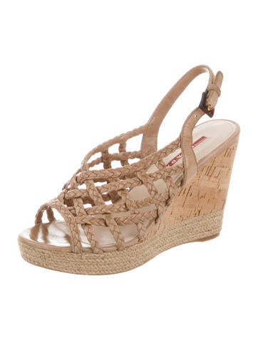 Crossover Slingback Wedges
