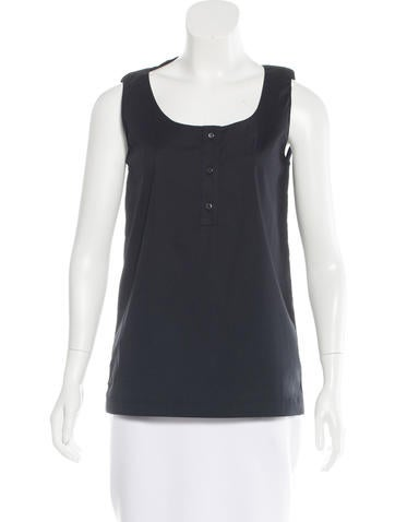 Prada Sport Sleeveless Button-Up Top None