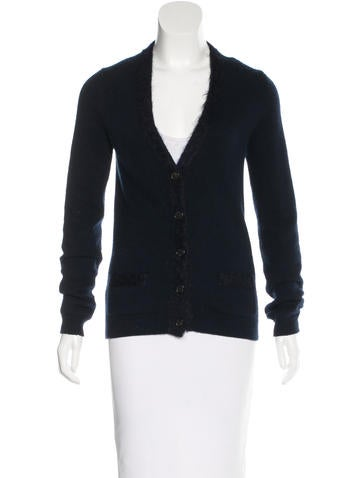 Prada Sport Wool & Cashmere-Blend V-Neck Cardigan None