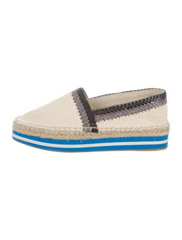Prada Sport Woven Leather Espadrilles None