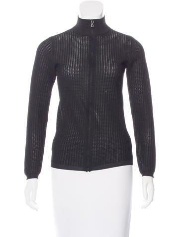 Prada Sport Long Sleeve Zip Cardigan None