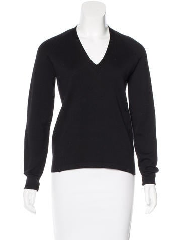 Prada Sport Leather-Trimmed Wool Sweater None