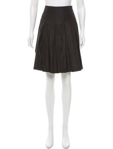 Prada Sport Pleated Knee-Length Skirt None
