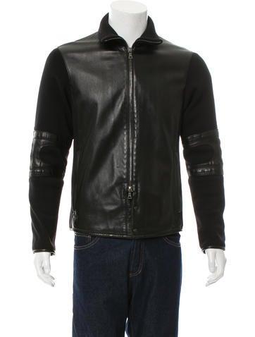 Prada Sport Zip-Up Leather Jacket None