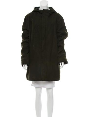 Prada Sport Wool Hooded Coat None