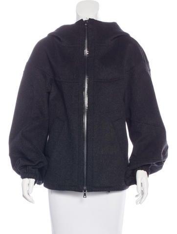 Prada Sport Hooded  Wool Jacket None