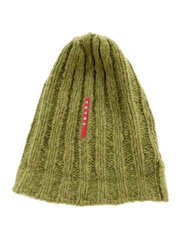 Prada Sport Rib-Knit Wool-Blend Beanie None