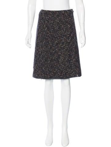 Prada Sport Tweed Knee-Length Skirt None