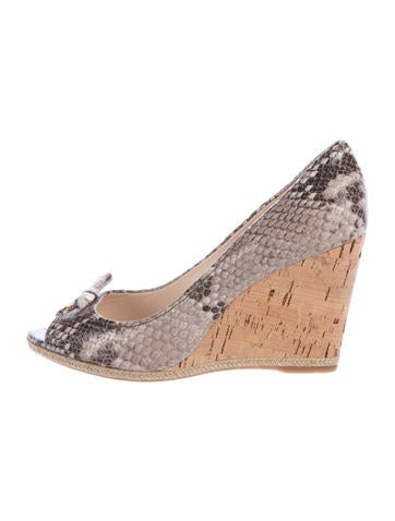 Prada Sport Embossed Espadrille Wedges None