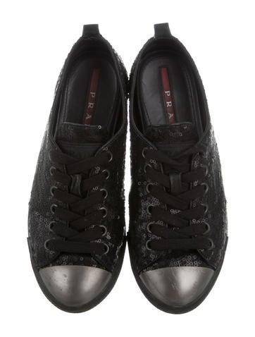 Paillette Sequin Cap-Toe Sneakers