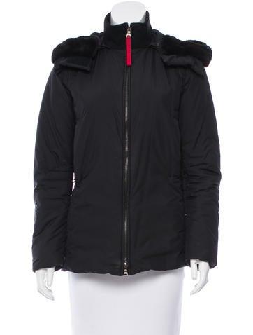 Prada Sport Fur-Trimmed Hooded Coat None