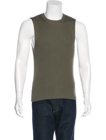 Prada Sport Rib Knit Wool Tank None
