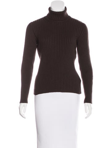 Prada Sport Rib Knit Turtleneck Sweater None