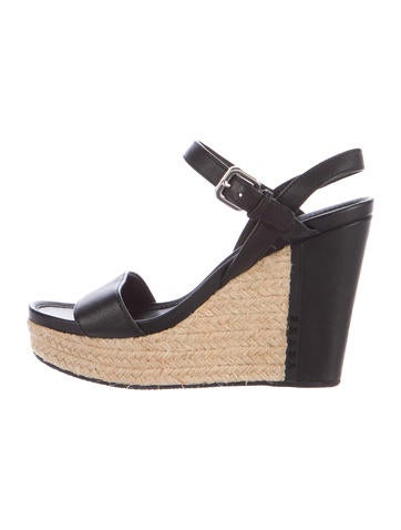 Prada Sport Leather Espadrille Sandals None