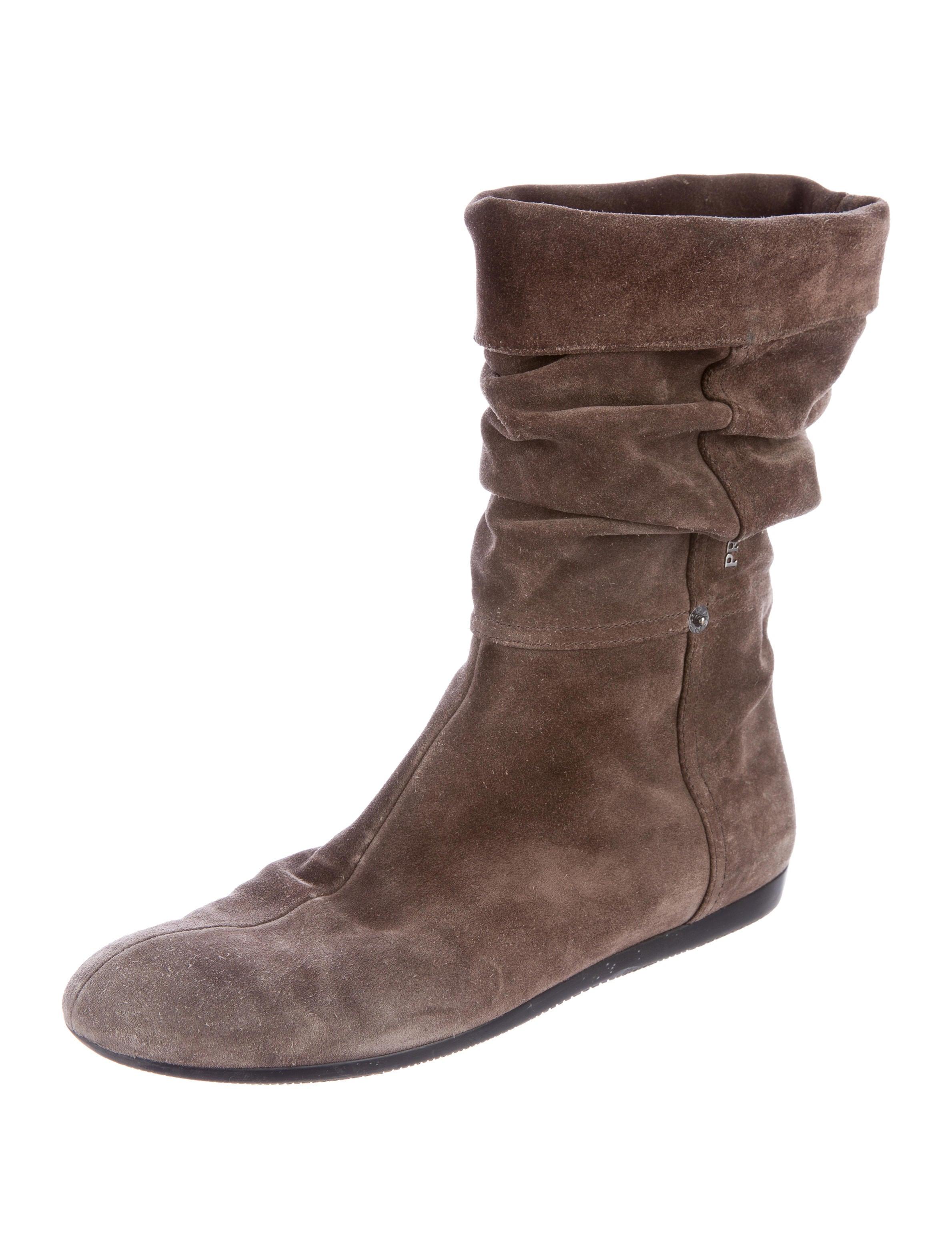 prada sport suede mid calf boots shoes wpr38427 the
