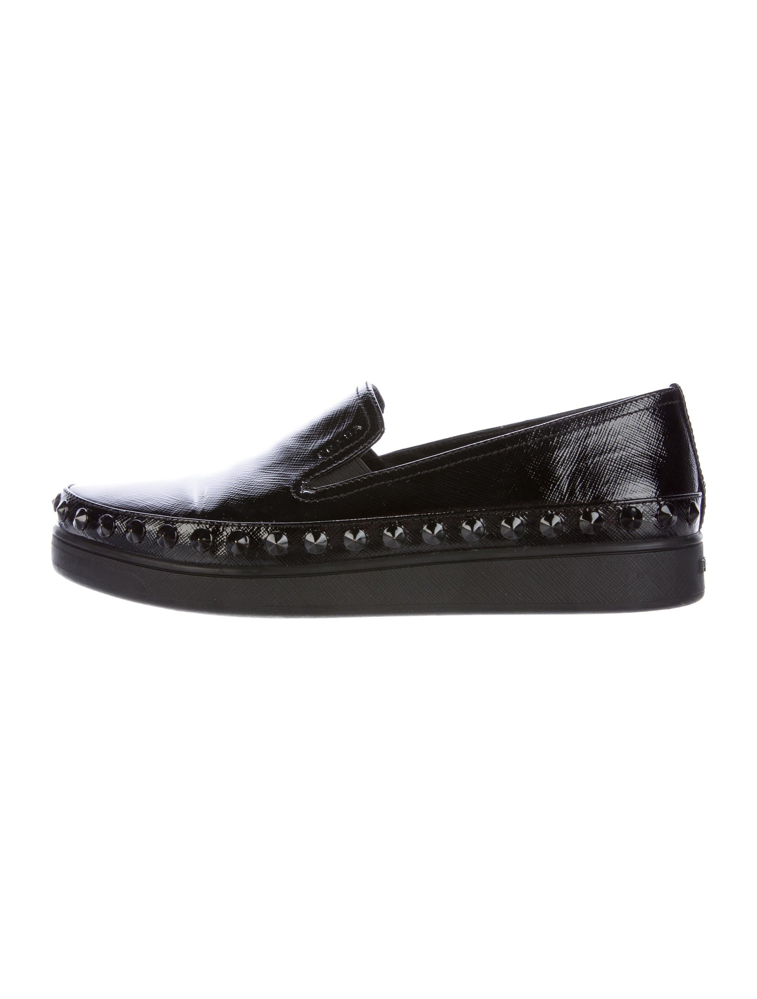 prada sport spiked slip on sneakers shoes wpr38552