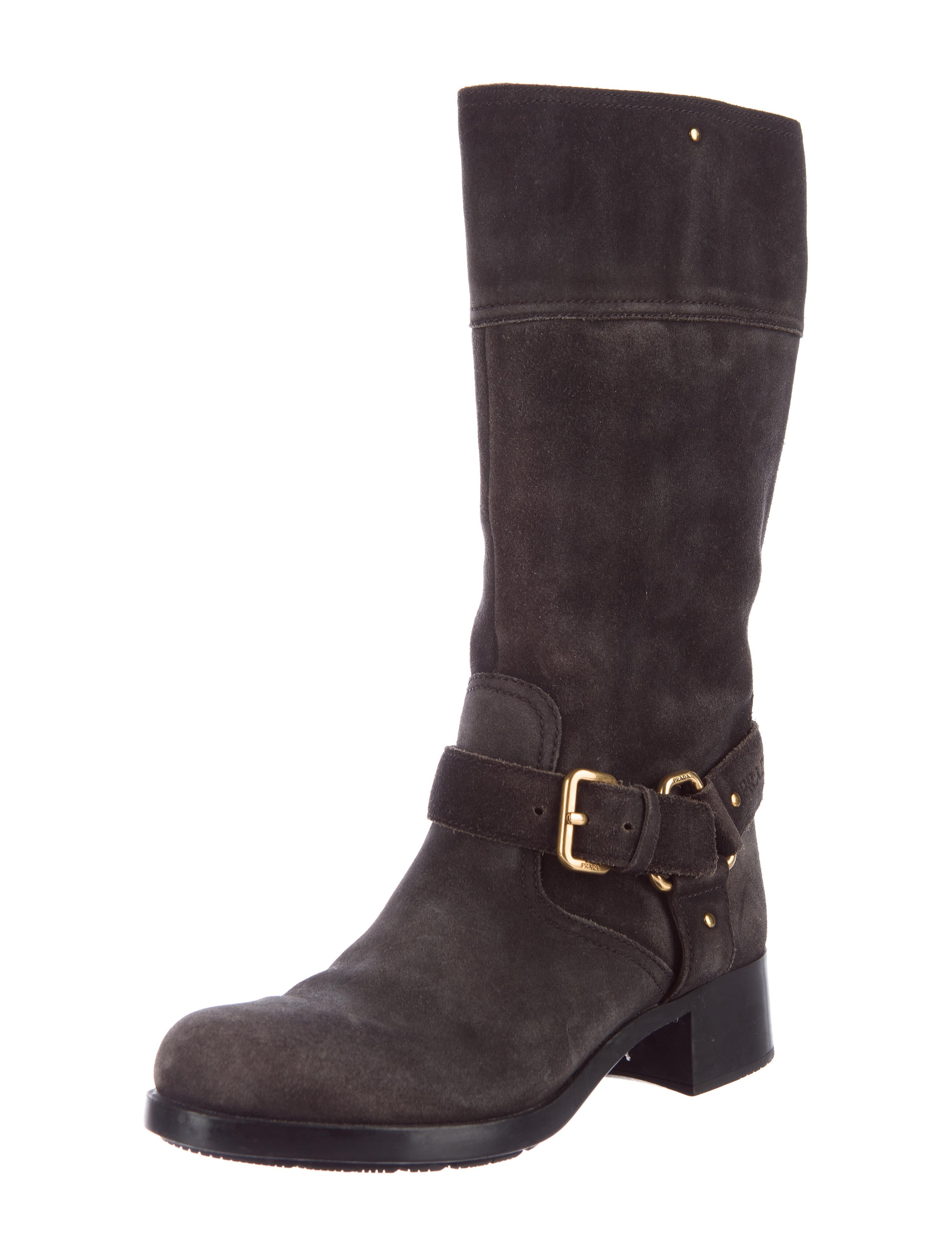 prada sport suede mid calf boots shoes wpr38553 the