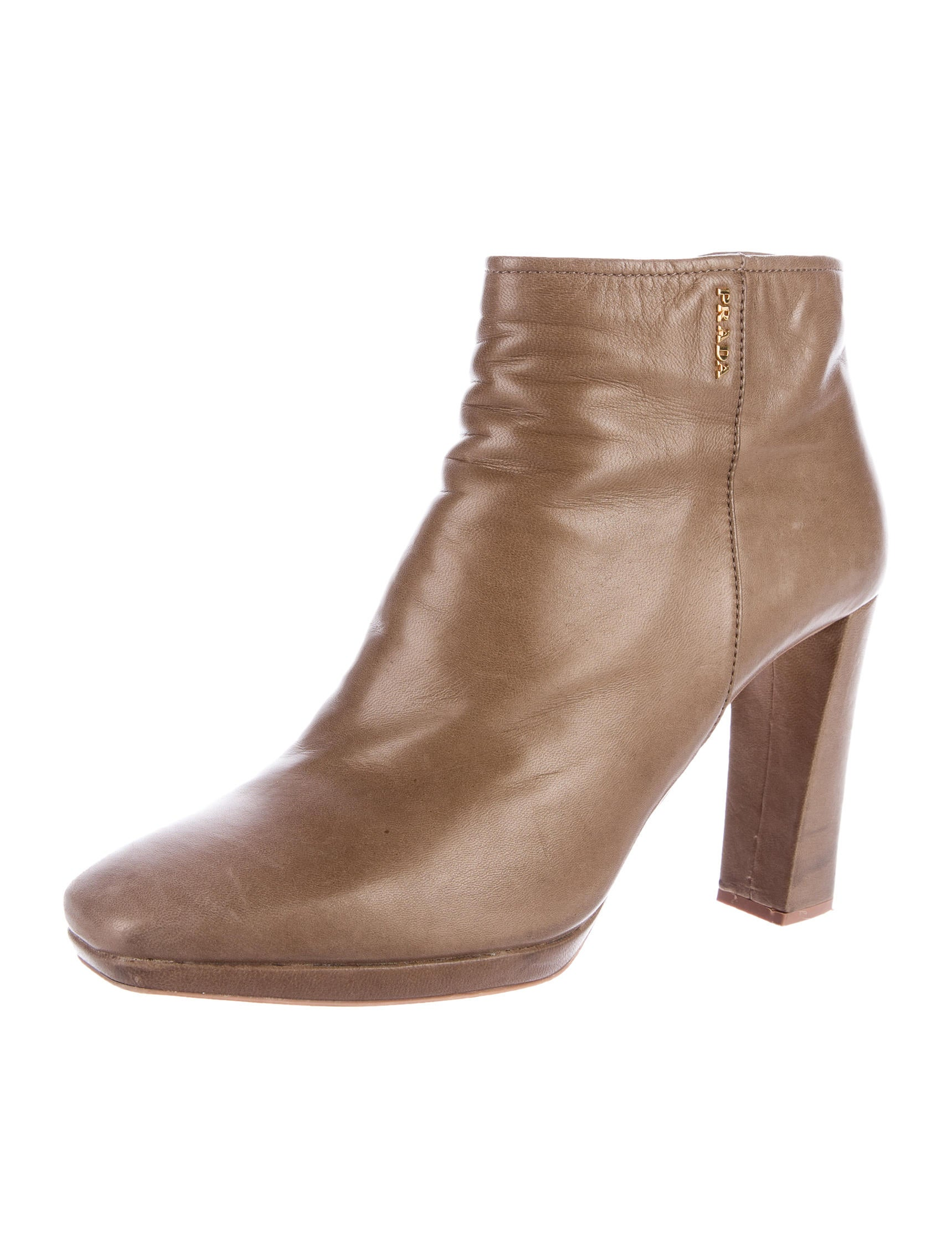 prada sport leather square toe ankle boots shoes