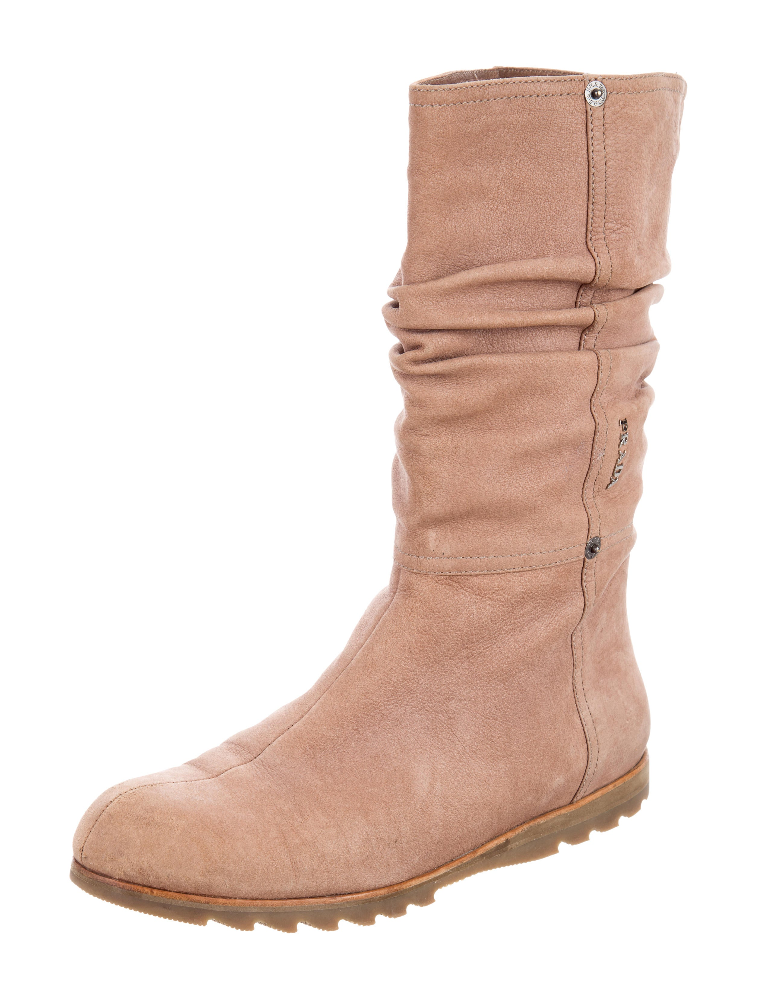 prada sport suede mid calf boots shoes wpr38850 the