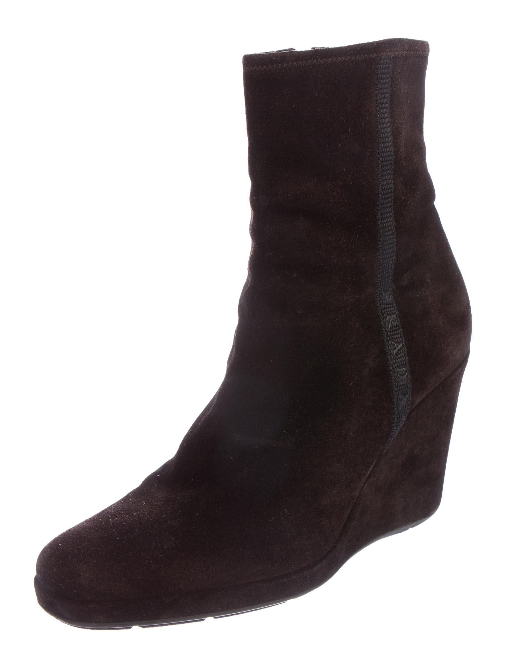 prada sport suede wedge ankle boots shoes wpr39011