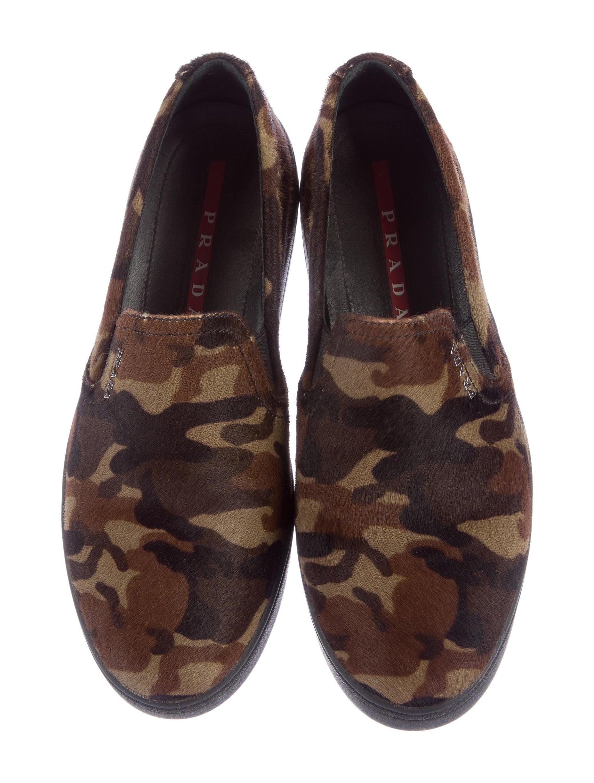 prada sport camouflage slip on sneakers shoes wpr39081