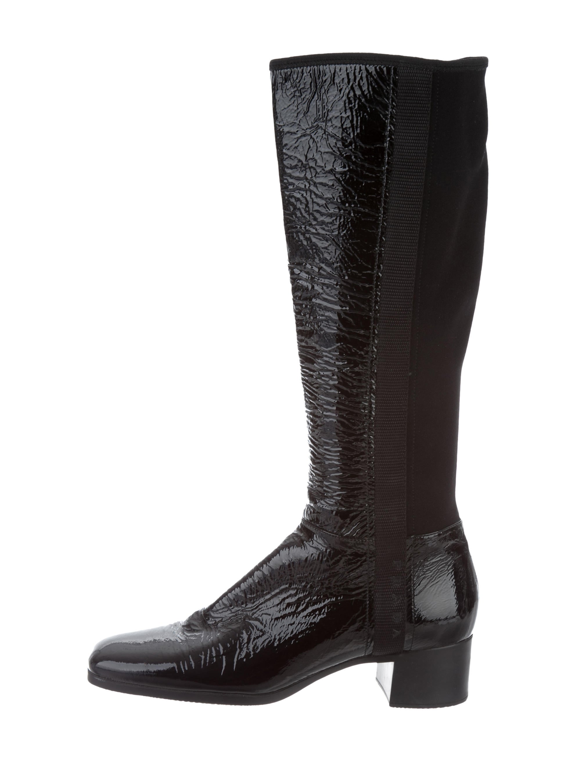 for sale wholesale price Prada Sport Patent Leather Square-Toe Boots free shipping release dates cheap sale for nice amazon cheap online 8pDu59O6