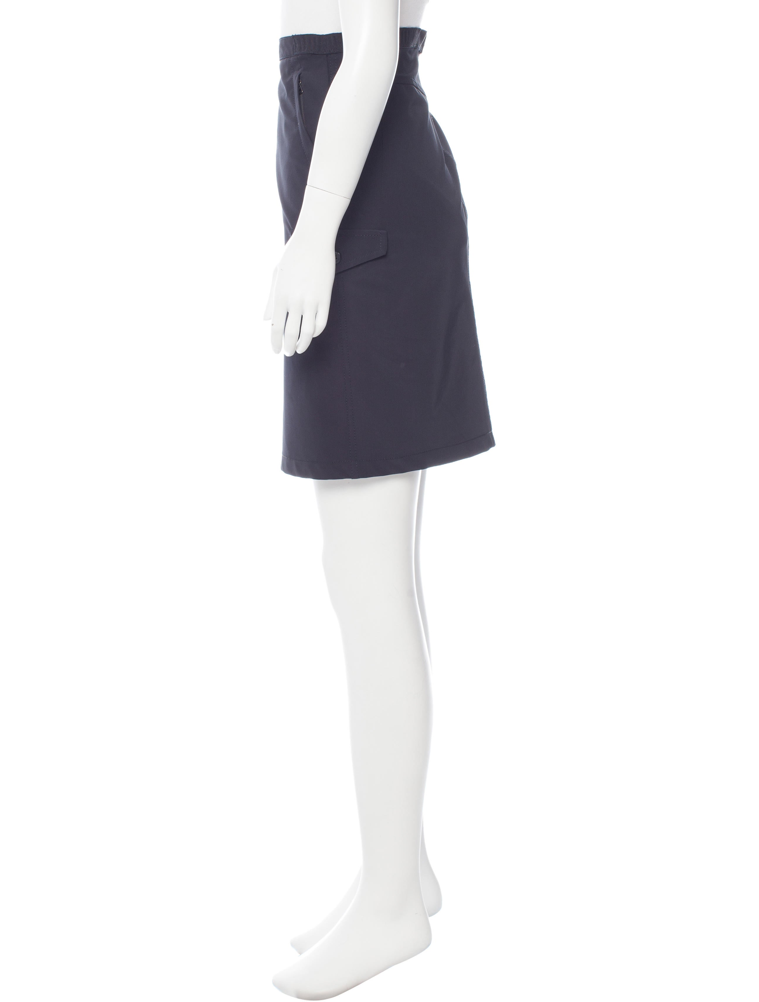 prada sport knee length pencil skirt clothing wpr39411