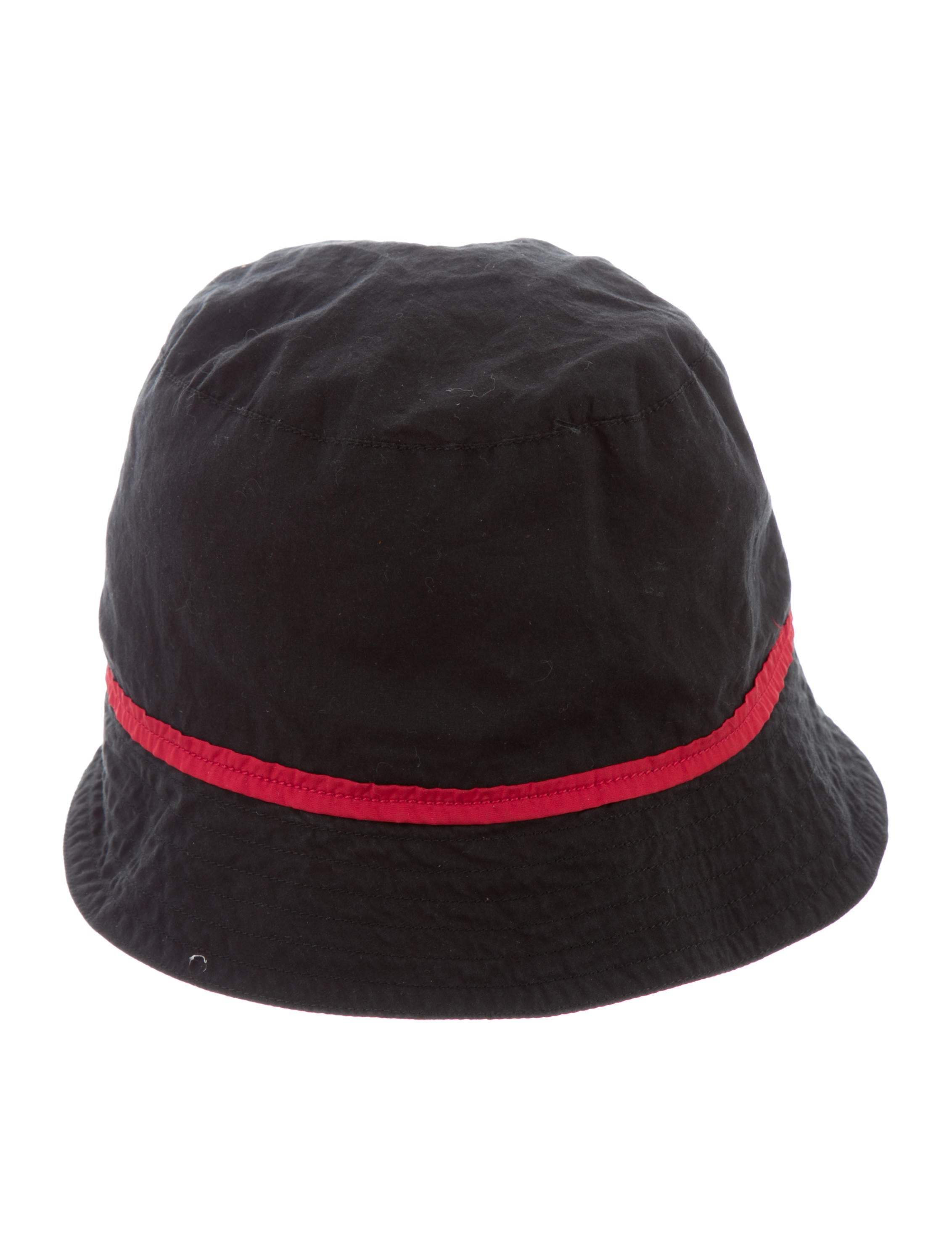prada sport black bucket hat accessories wpr39535
