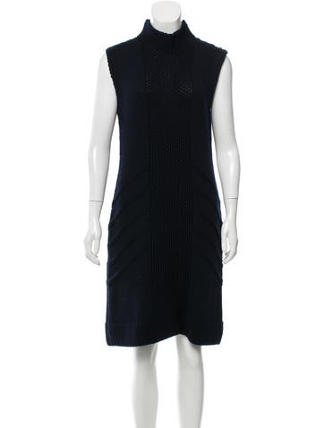 Prada Sport Wool Rib Knit Dress None