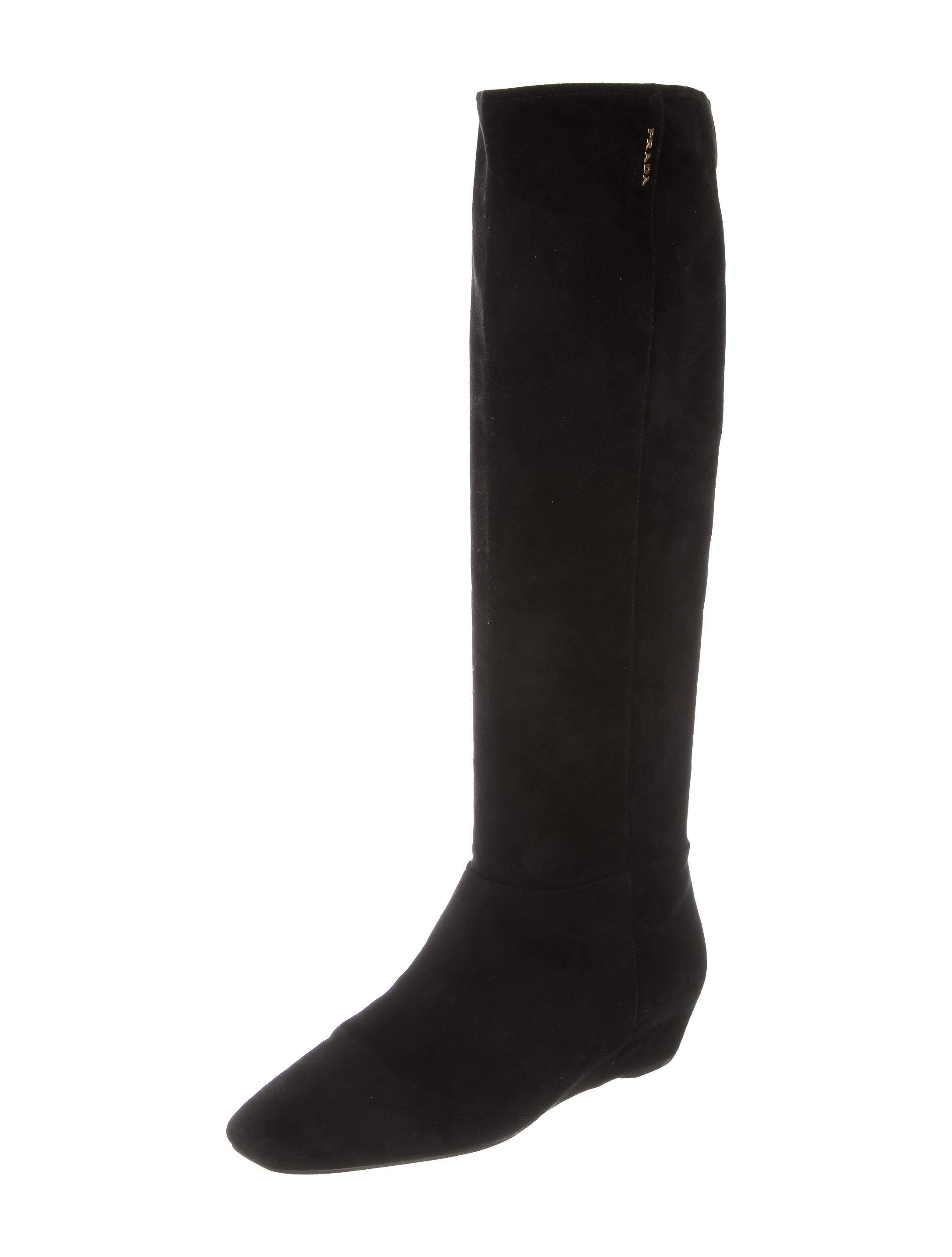 prada sport suede wedge boots shoes wpr39644 the