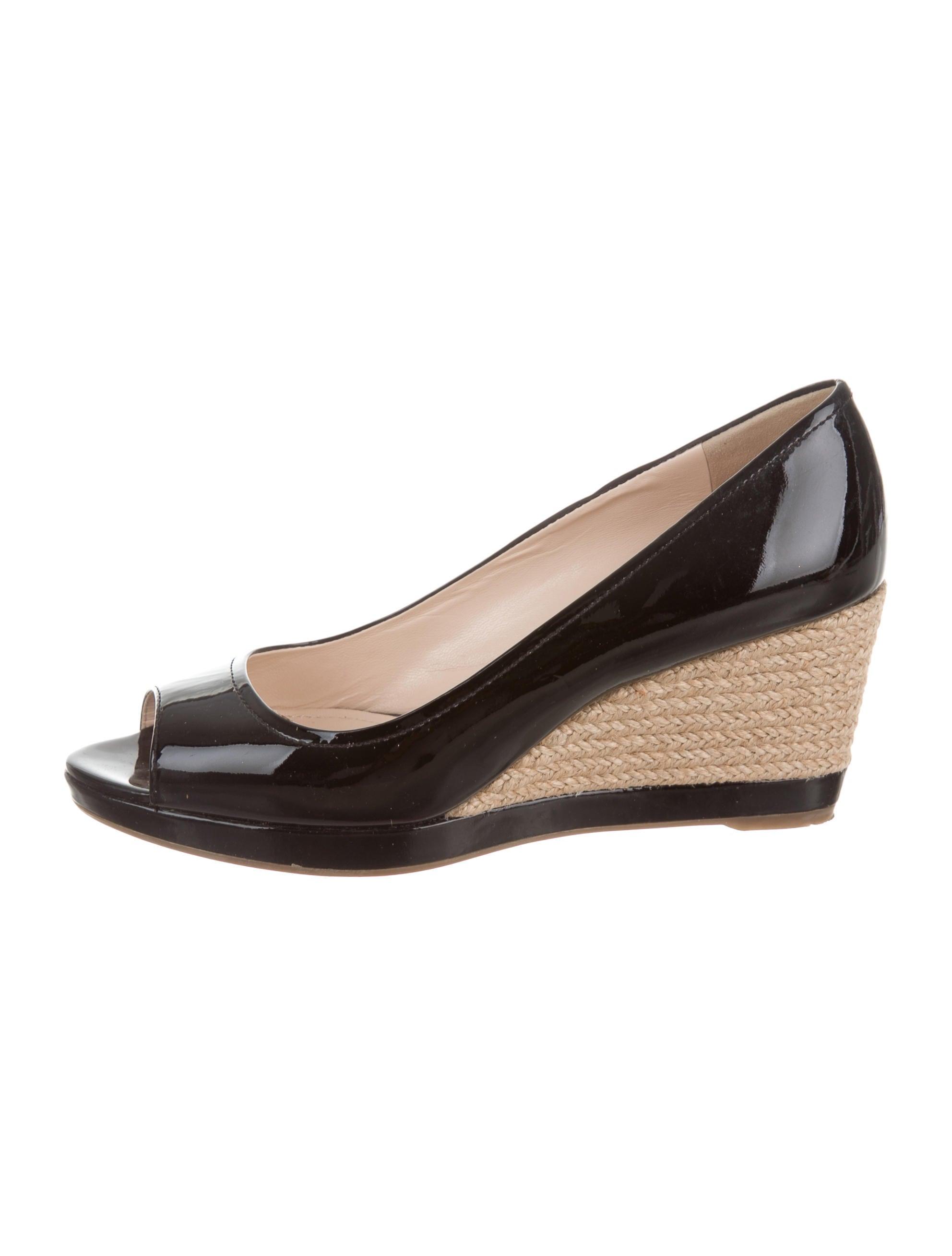 prada sport peep toe espadrille wedges shoes wpr39816